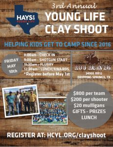 3RD Annual Hays Young Life Clay Shoot @ Hog Heaven Sporting Club | Dripping Springs | Texas | United States