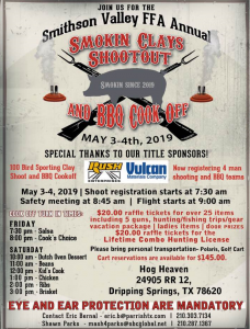 Smithson Valley FFA Fundraiser Shoot @ Hog Heaven Sporting Club | Dripping Springs | Texas | United States